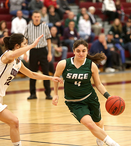 Sage women emerge from road tilt at Stevens victorious, 66-55
