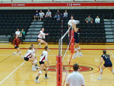 Ferris State had five players with double-digit kills in its five-set triumph over Upper Iowa.