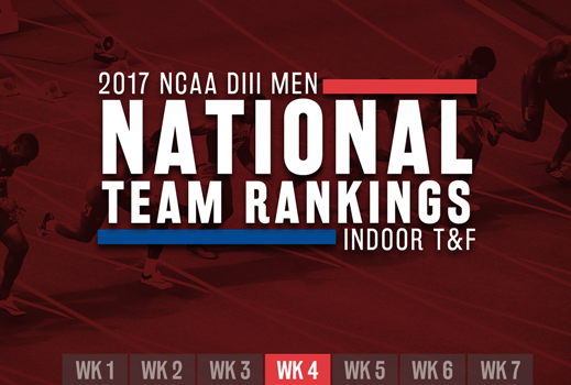 2017 NCAA Division III Men's National Team Rankings Indoor Track & Field