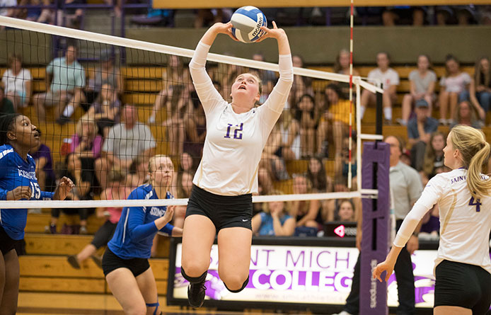 Women's Volleyball Begins Two-Match Road Weekend with Loss at Saint Rose