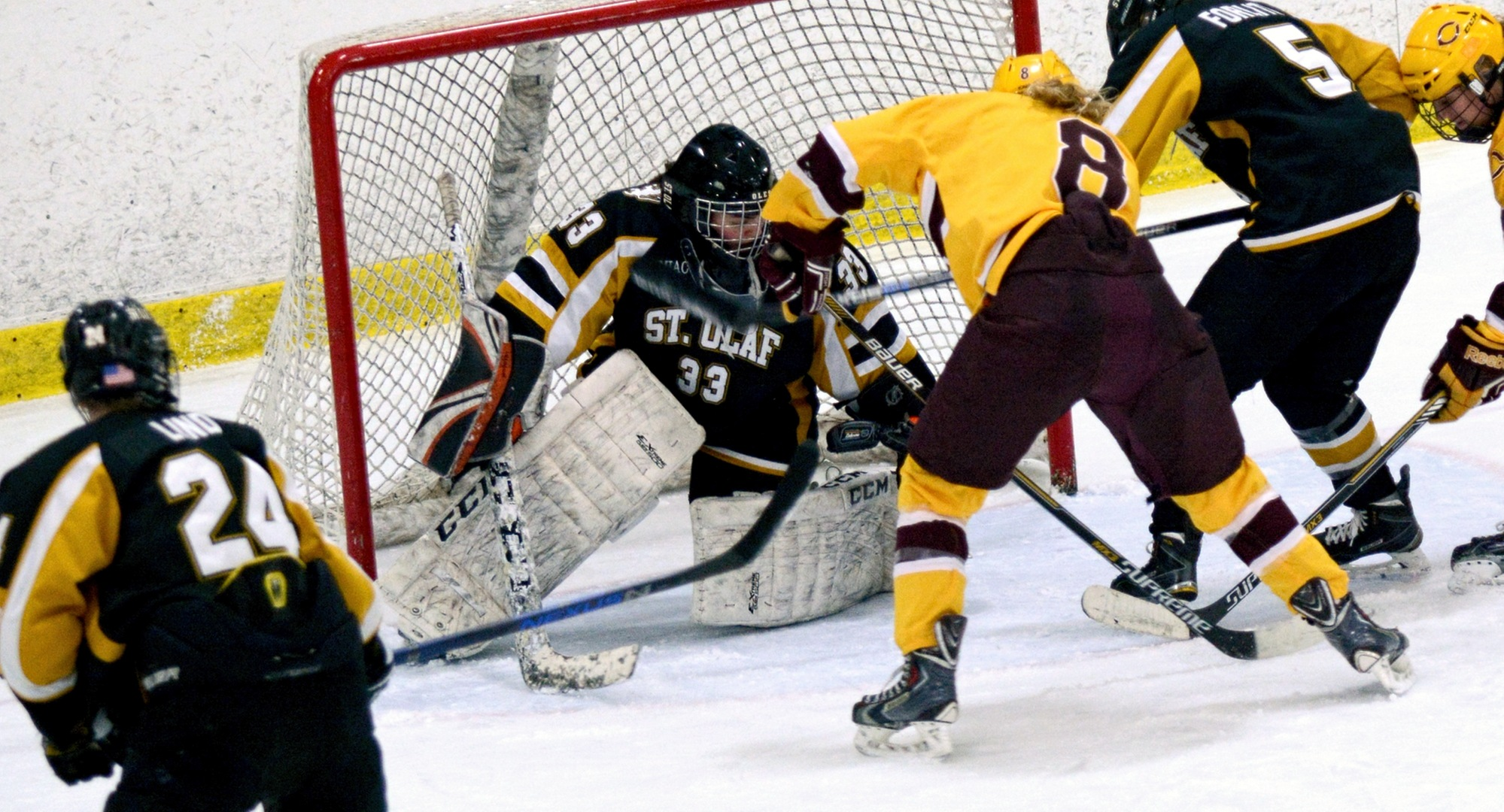 Senior Ellen Rethwisch had two goals in the Cobbers' 5-2 win at St. Olaf and now leads the MIAC in goals scored in league games.