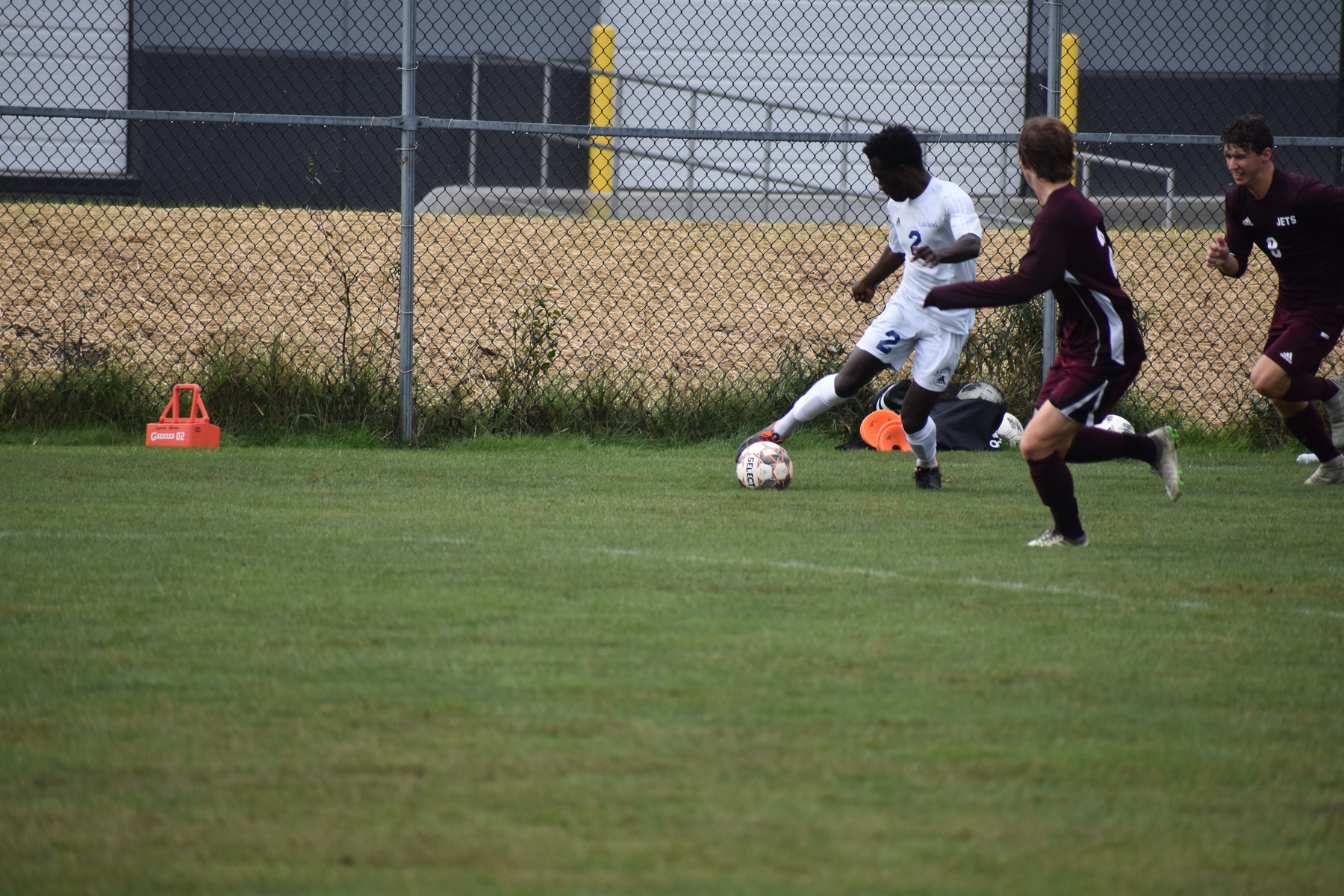 Lakers men's soccer rolls to victory over Red Hawks
