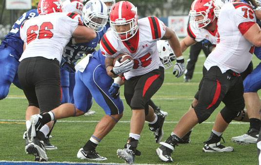 Jamaine Cook rushed for 177 yards on 33 carries and scored two touchdowns against the Sycamores. (Photo by Ron Stevens)