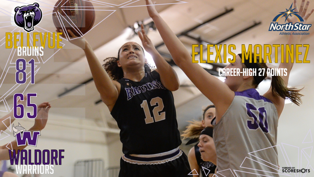 Sophomore Elexis Martinez scored a career-high 27 points in the victory.