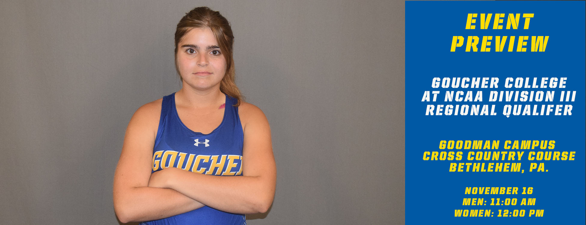 Goucher Cross Country To Participate In The NCAA Division III Regional Qualifier On Saturday In John Caslin's Final Race As Head Coach