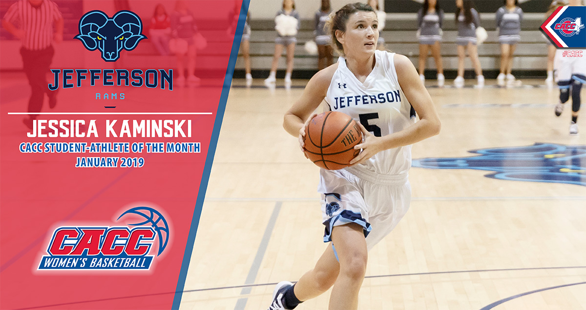 Jefferson's Jessica Kaminski Named the CACC Student-Athlete of the Month for January 2019