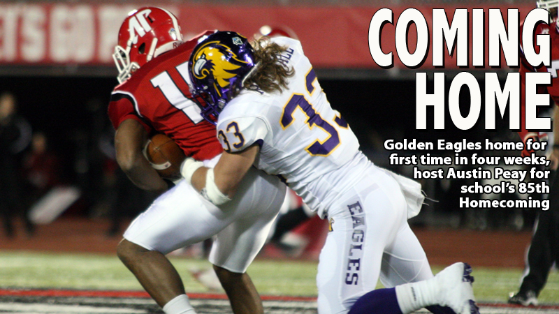 GAMEDAY CENTRAL:  Golden Eagles host Austin Peay for 85th TTU Homecoming