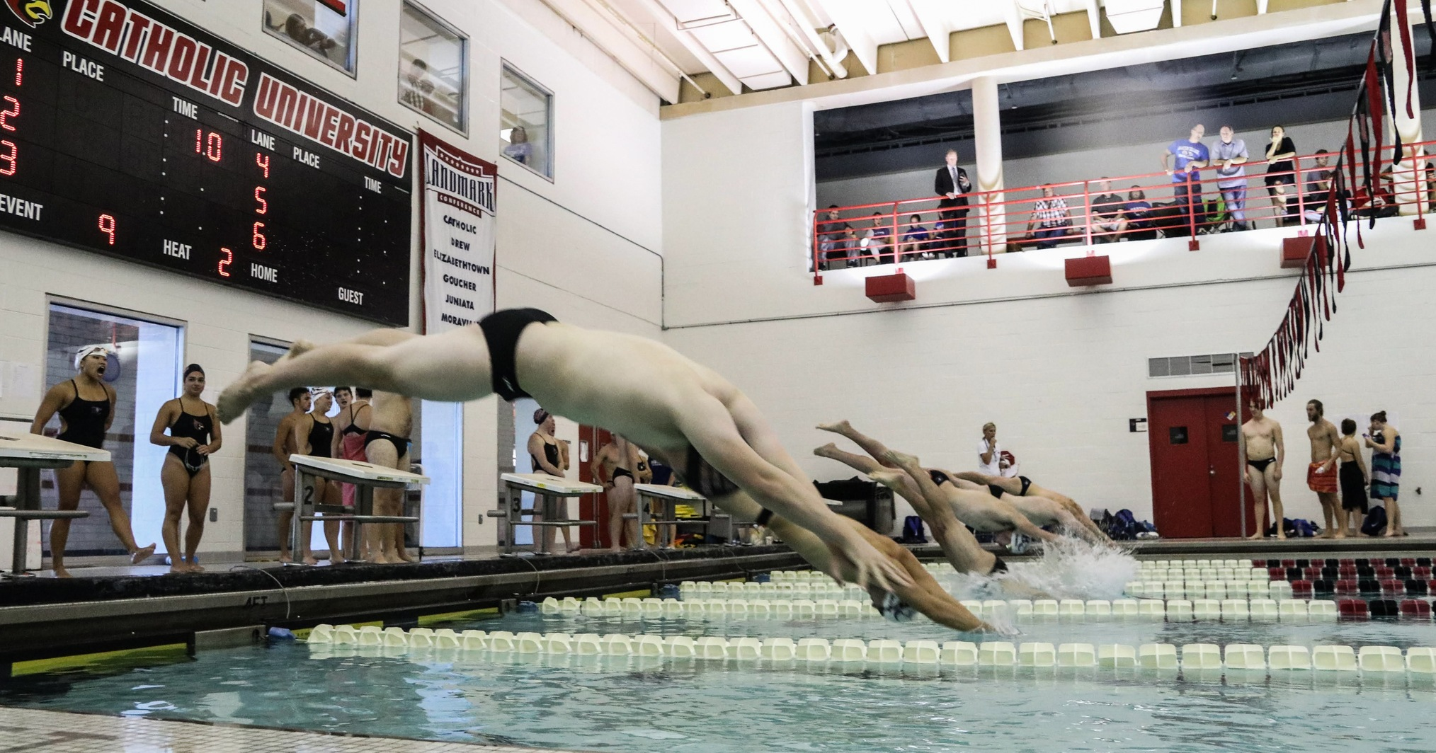 Men's Swimming Finishes Second in Yellow Jacket Invitational