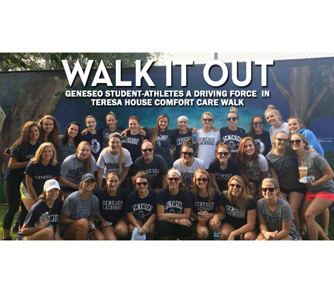 "Feature Friday: Geneseo student-athletes ""Walk it Out"" at the 12th annual Teresa House Comfort Care Walk"