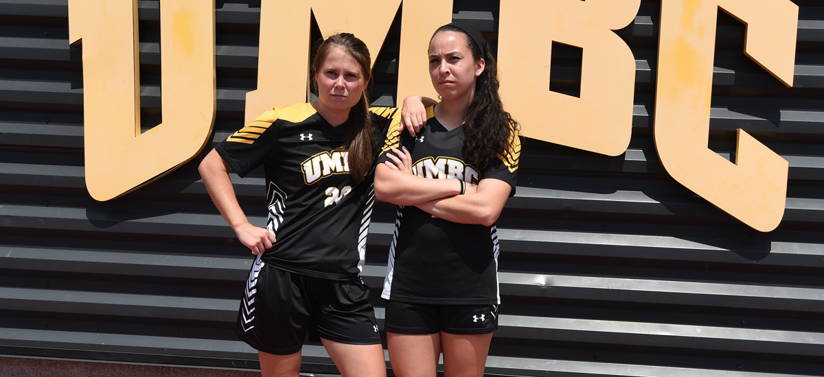 Seniors Gabby Boehmer (L) and Madison Koenig will be honored prior to Sunday's game (Photo by Gail Burton)