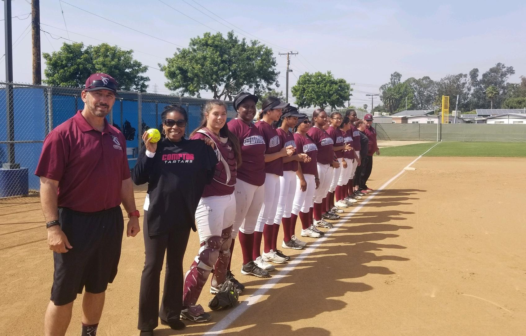 Softball Falls to Long Beach; Honors Compton Faculty and Staff