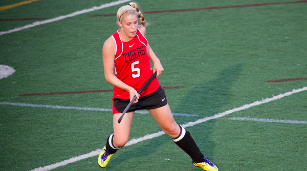 Tiffany McKenna scored one goal in each half in a 3-2 victory over Transylvania. File Photo | Erin Pence