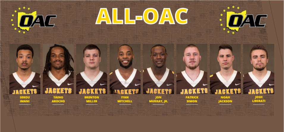Eight Football Players Named to the All-OAC Team