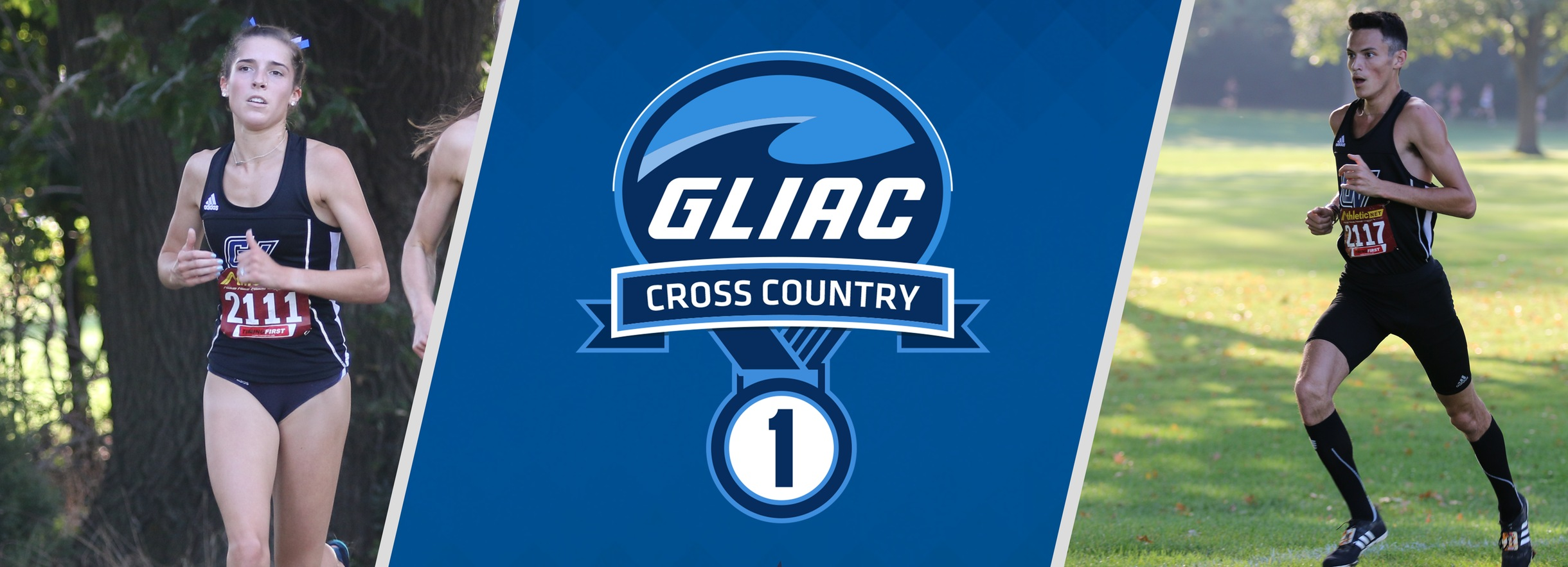 GVSU's Ludge and Chada Earn GLIAC Cross Country Athlete of the Week Accolades