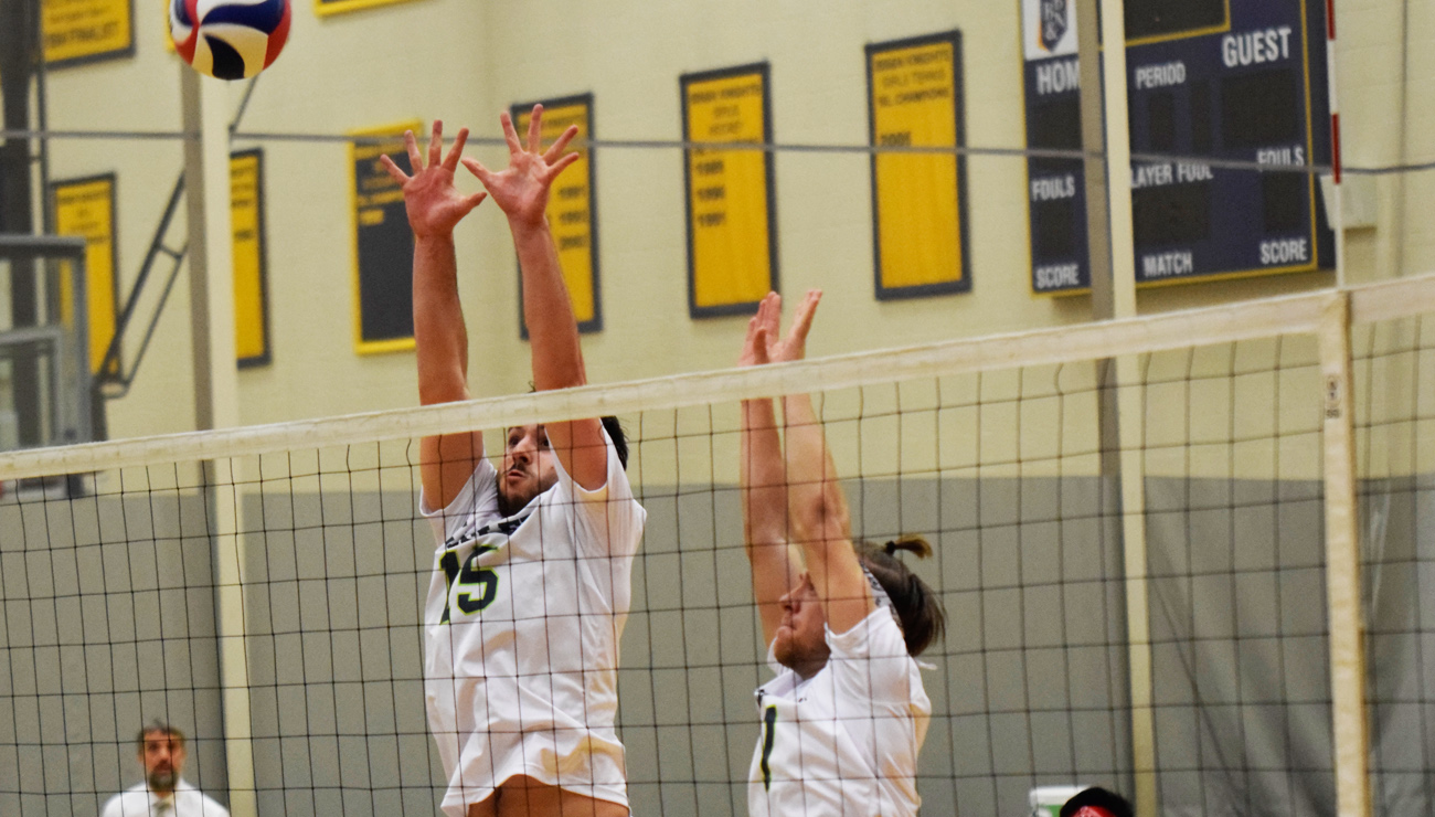 Men's Volleyball Drops Pair at DWC Tri-Match