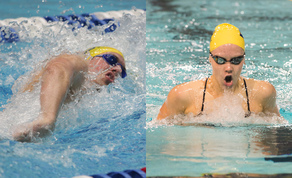 Trey Kolleck & Clio Hancock Earn UAA Swimmer of the Week Honors