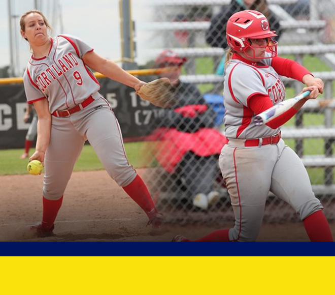 Cortland sweeps weekly awards for softball