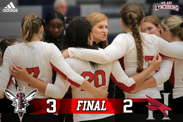 Lynchburg won Saturday's match in five sets.