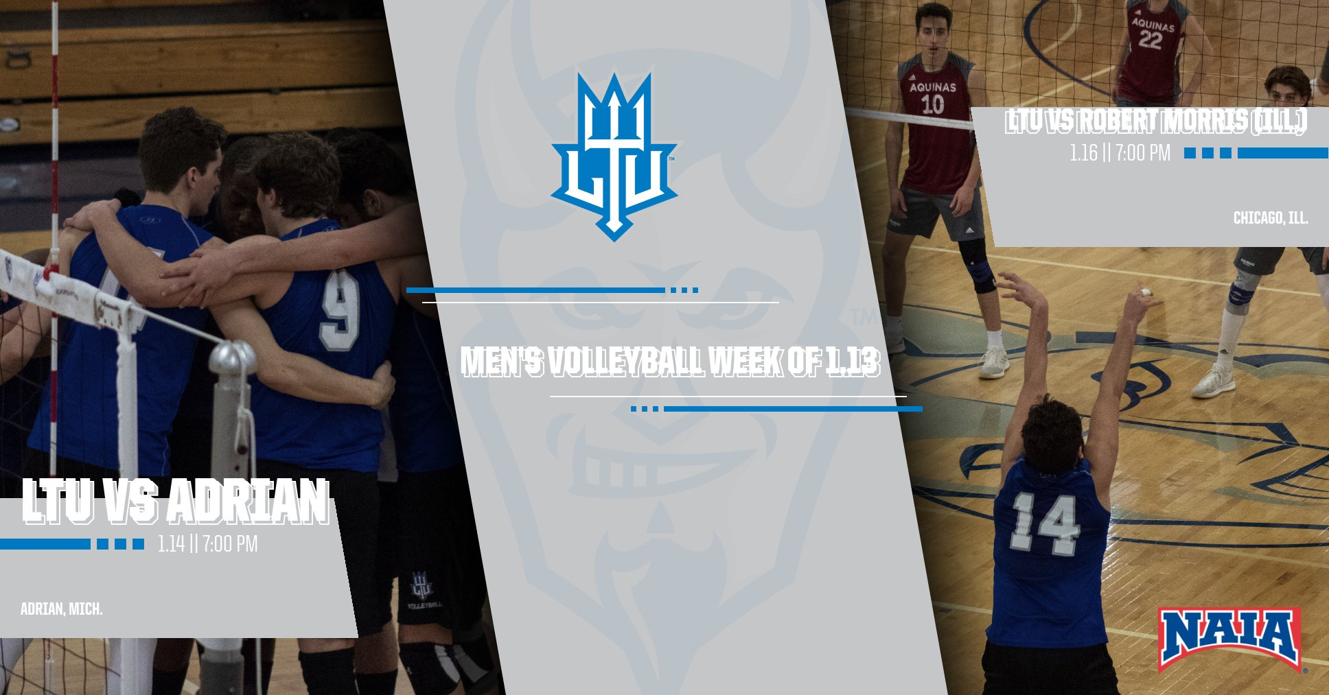 Men's Volleyball Hits the Road to Face Adrian on Tuesday, Robert Morris on Thursday