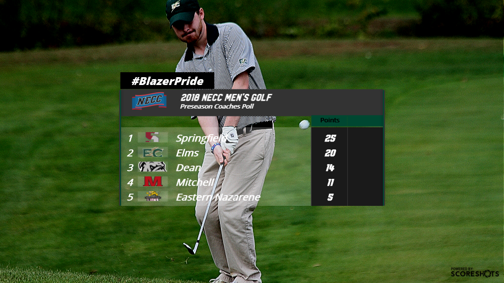 Elms Golf Picked Second In NECC Poll