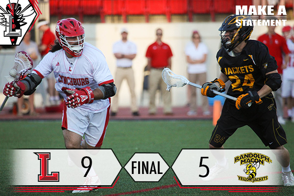 #16 Men's Lacrosse Advances to ODAC Semifinals Over RMC 9-5