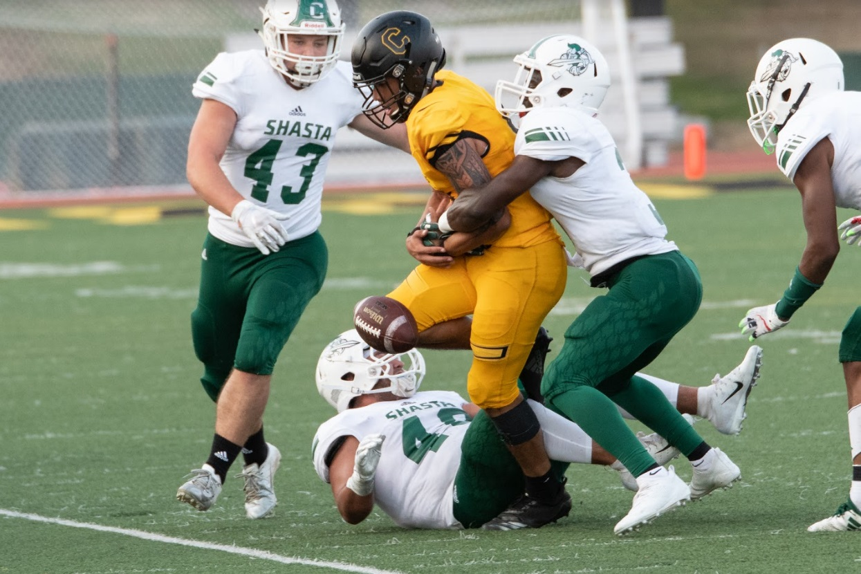 SHASTA COLLEGE LOSES TO CHABOT 27-7 IN SEASON OPENER