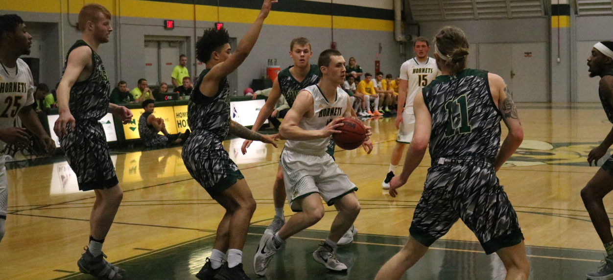 Hornet men unable to recover from big first half deficit in NAC opener