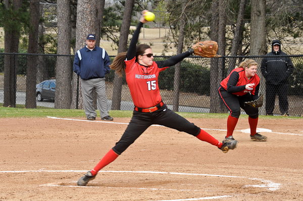 McClure's perfect game highlights softball sweep of Wesleyan