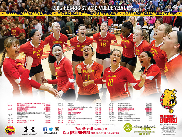 2015 Ferris State Women's Volleyball Yearbook