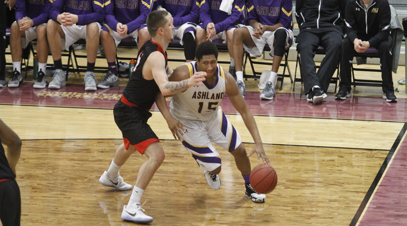 Last-Minute Heroics Lift AU Men Over Northwood, 64-63