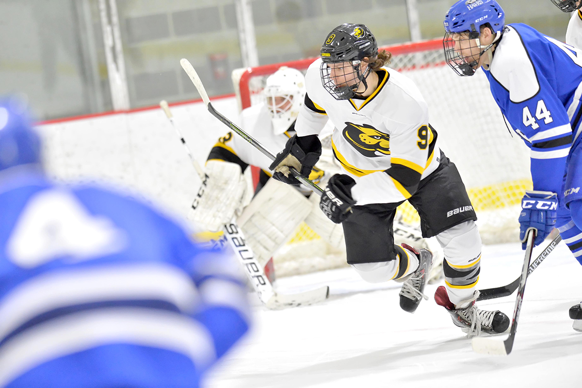 Hockey Nets Two in Second Period to Edge Suffolk
