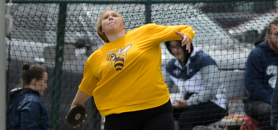 Junior All-OAC thrower Brooke Buckhannon was BW's lone event winner as she won the discus throw at the April Fools Invitational