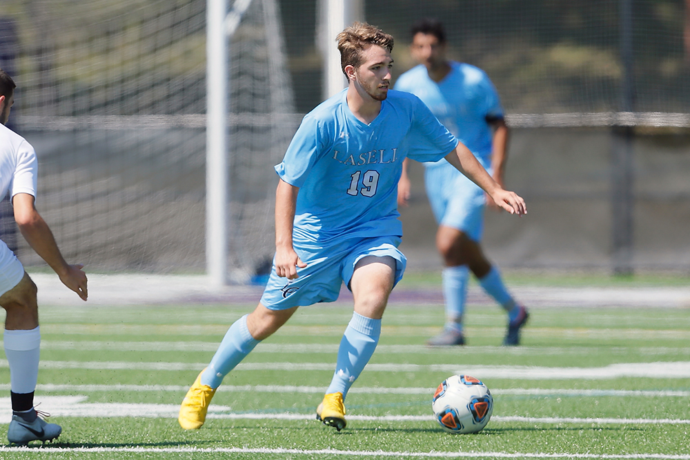 Lasell Men's Soccer upended by Suffolk