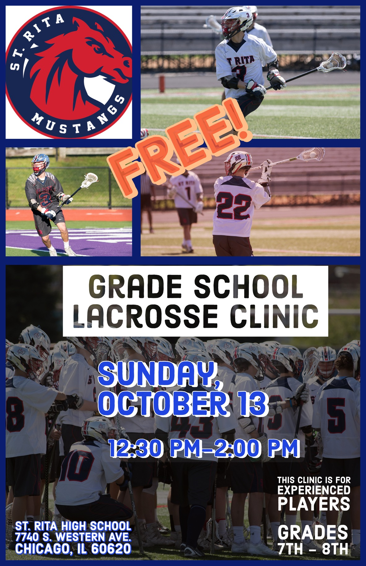 Fall Lacrosse Clinic! October 13th from 12:30-2:00pm