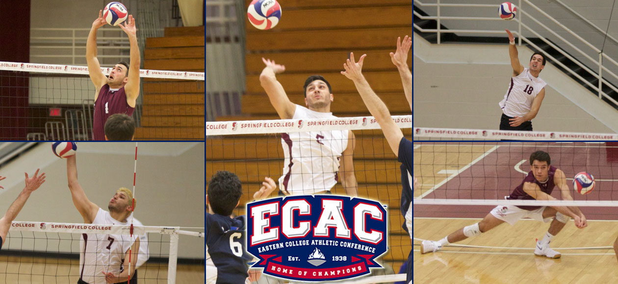 Vega Named ECAC North Men's Volleyball Co-Offensive Player of the Year; Five Earn All-Region Honors