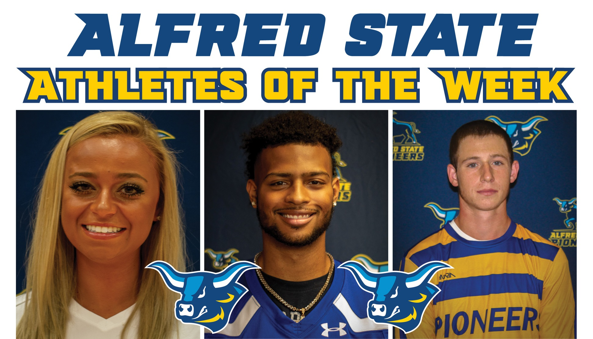 Michayla Salatel, Jalen Long, and Just Hoffmann named Alfred State Athletes of the Week