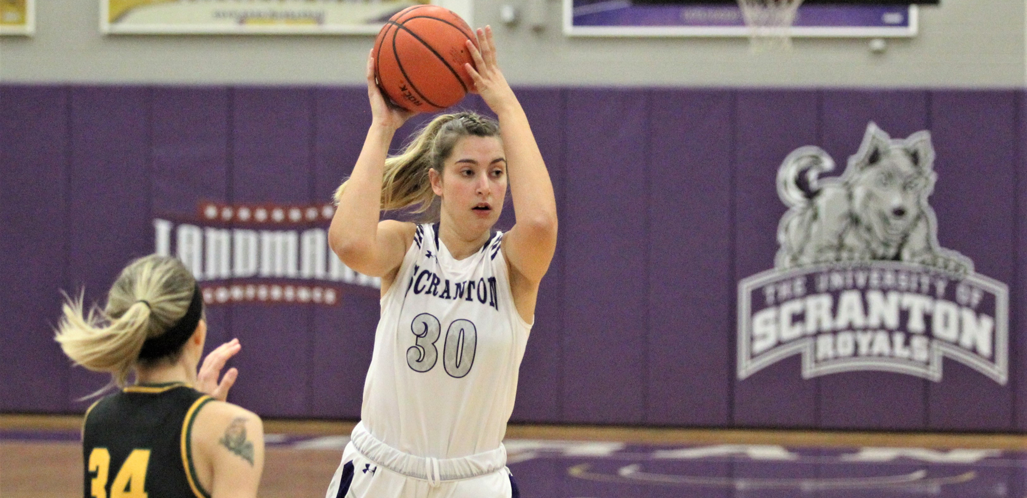 Senior Sofia Recupero recorded 12 points and a career-high 14 rebounds on Saturday at Catholic.