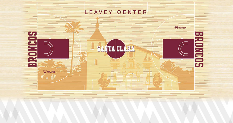 Santa Clara Athletics Unveils Leavey Center Floor Design