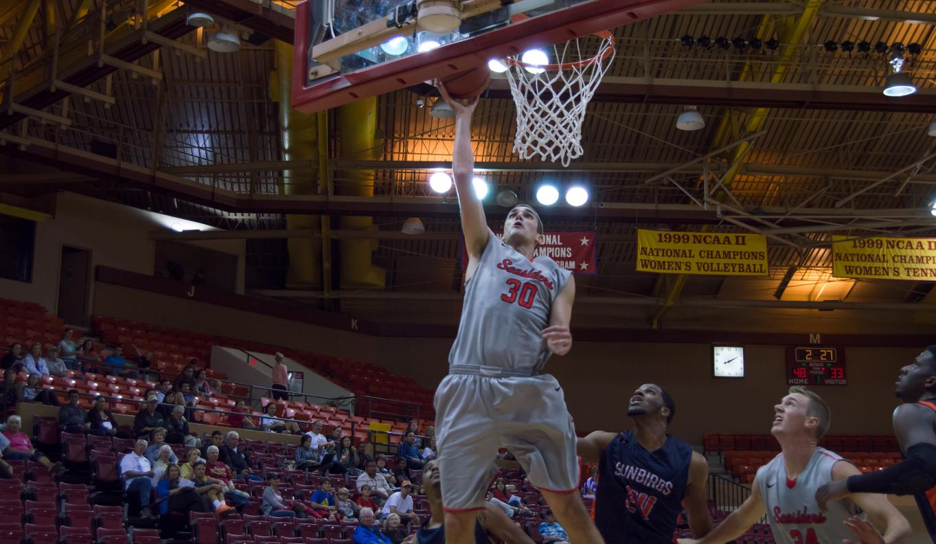 Harward burns the Sunbirds with double-double