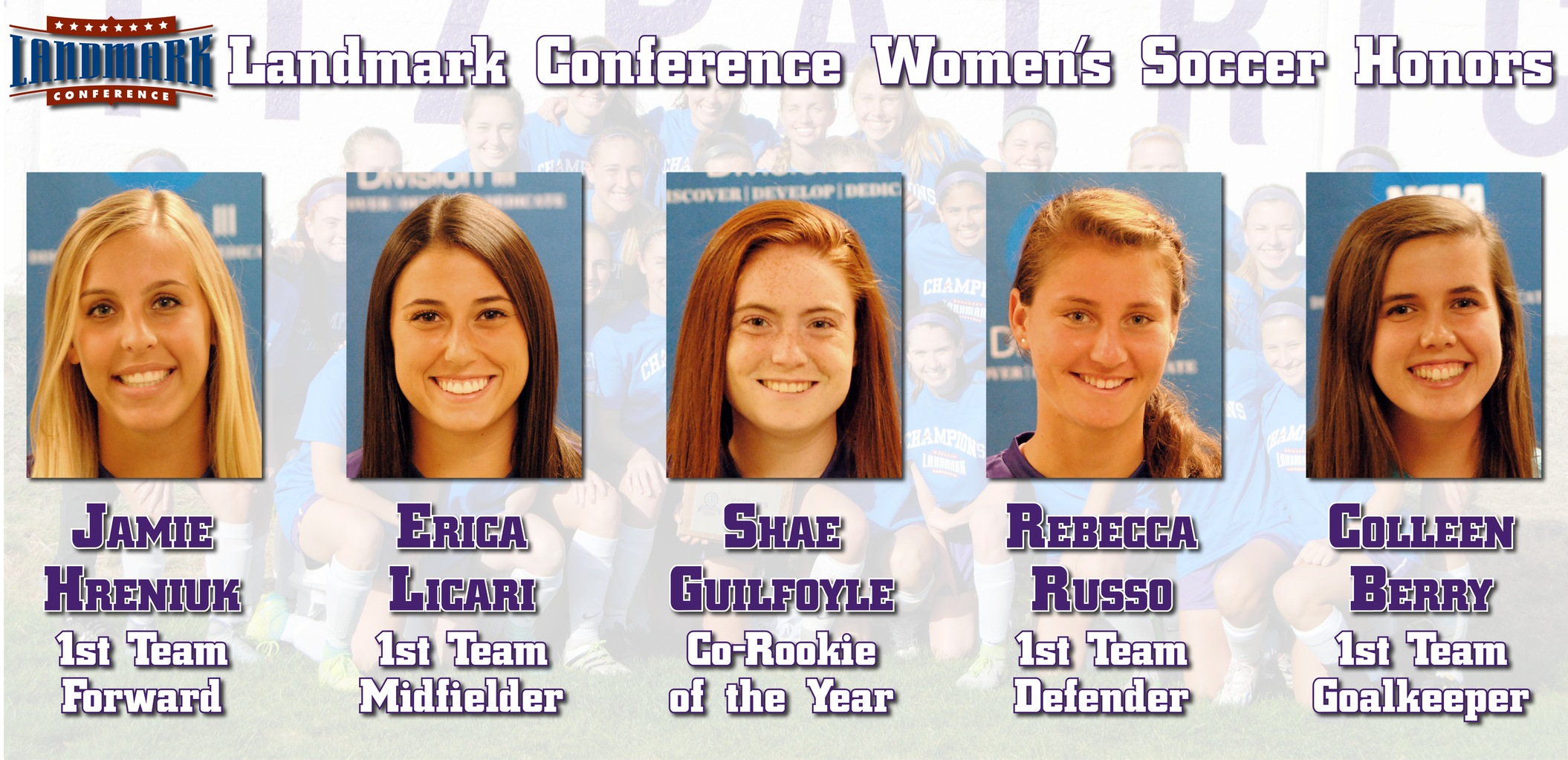 Five Women's Soccer Players Earn Landmark Honors; Guilfoyle Named Co-Rookie of the Year