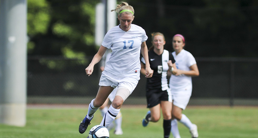 Singleton Scores Twice to Lead Soccer Past Bay Path, 3-0