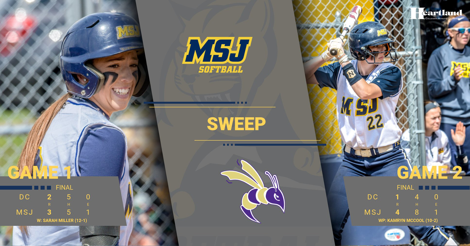 Softball stays atop HCAC by sweeping Defiance on Senior Day