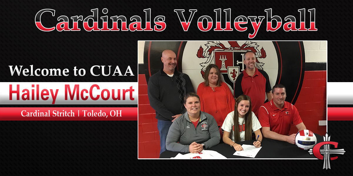 Photo for Volleyball signs McCourt from Cardinal Stritch High School