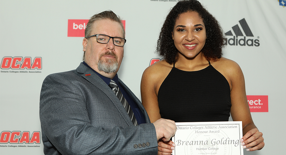 GOLDING NAMED OCAA ROOKIE OF THE YEAR