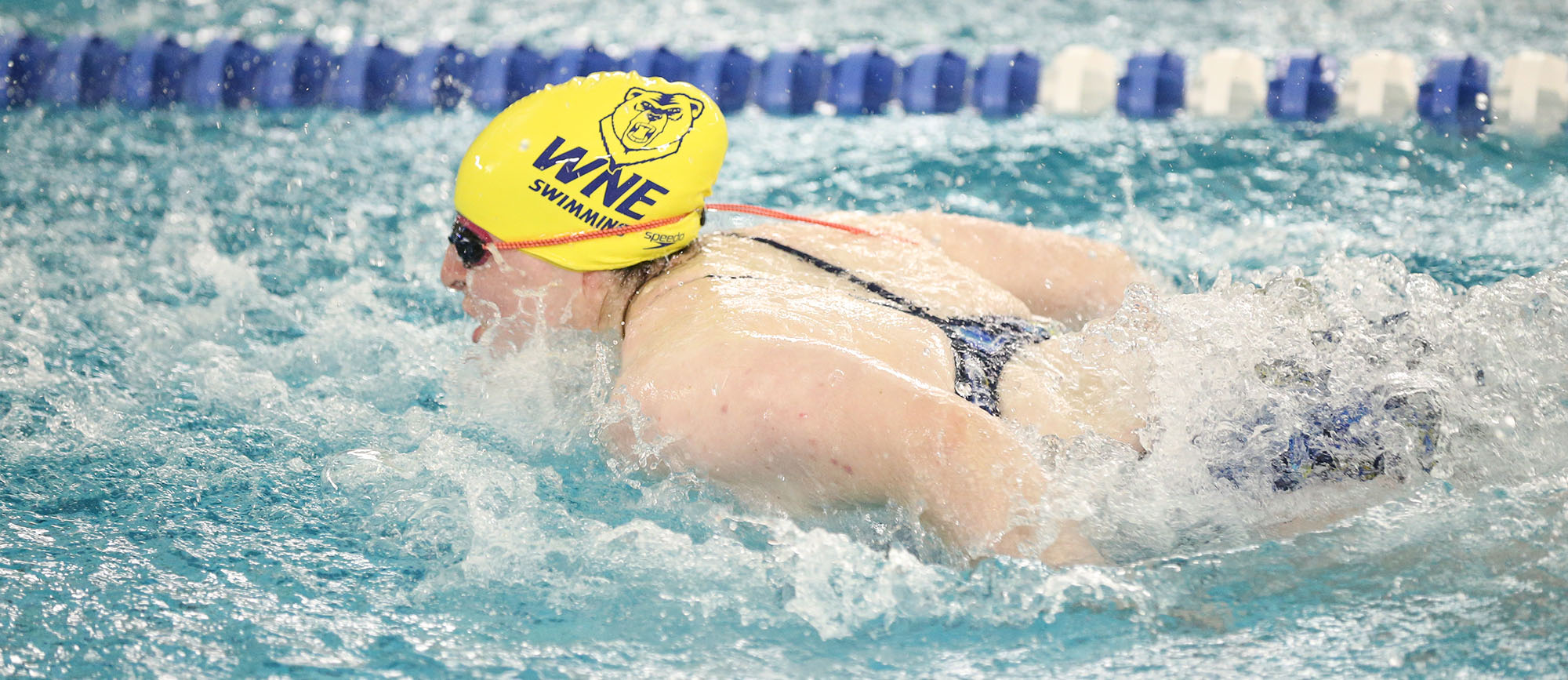 Senior Erika Sheinhait posted two event wins in Western New England's victory at Elms on Wednesday (Photo by Chris Marion).