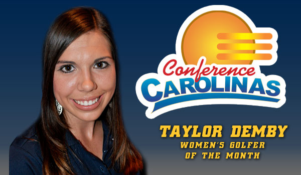 Taylor Demby is Conference Golfer of the Month