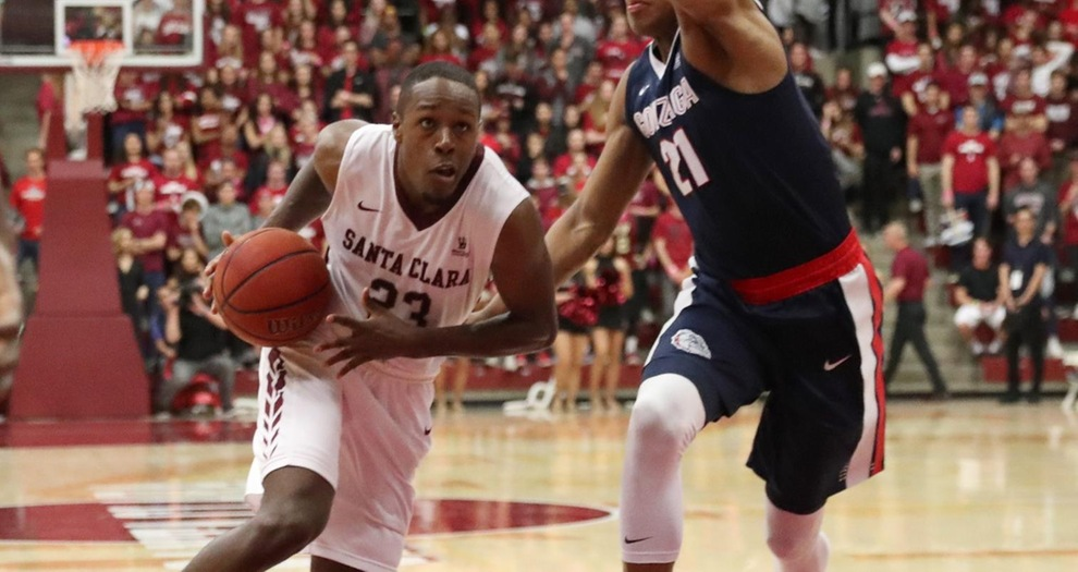 Men's Basketball Faces Top-Seeded Gonzaga Monday in WCC Tourney Semifinals