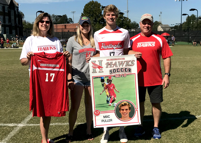 Senior Mac Puller was recognized on Saturday during Senior Day. (Photo by Indya Lawrence)