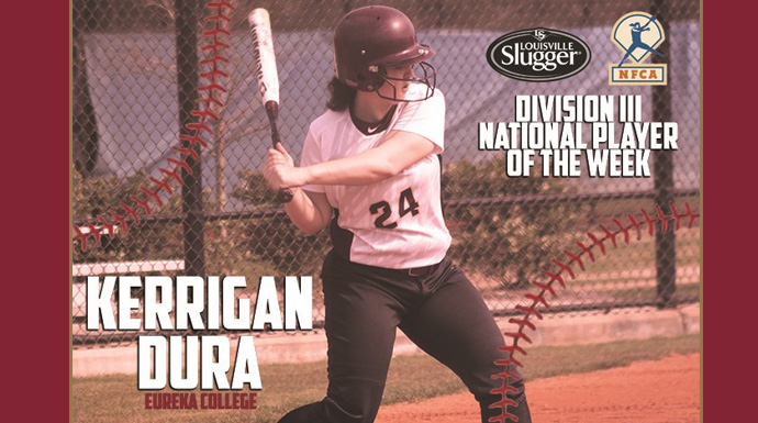 Dura Earns Louisville Slugger/NFCA Division III National Player of the Week Honors