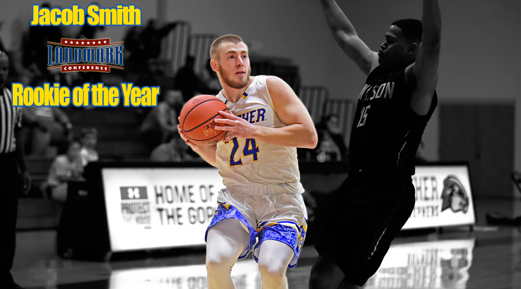 Jacob Smith Named Landmark Conference's Rookie of the Year for Men's Basketball
